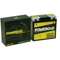 Akumulator motocyklowy POWEROAD YG551913 (51913, 12-19) 21Ah 250A 12V ŻEL