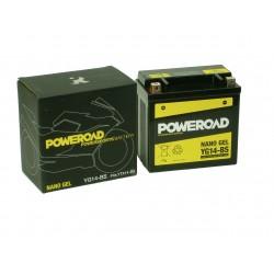 Akumulator motocyklowy POWEROAD YG14-BS (YTX14-BS) 14Ah 230A 12V ŻEL