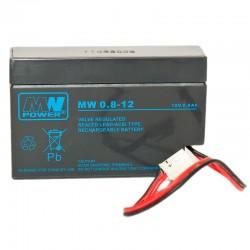 Akumulator przemysłowy 12V 0,8Ah MW do kasy fiskalnej, wagi