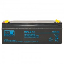 Akumulator przemysłowy 12V 2,2Ah MW do kasy fiskalnej, wagi