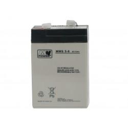 Akumulator przemysłowy  MWS 6V 5Ah do wagi