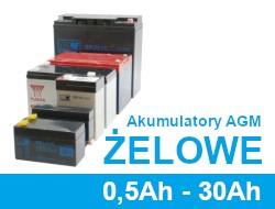 Akumulatory żelowe, agm 0.5Ah - 30Ah
